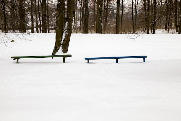 冬に雪が漂う