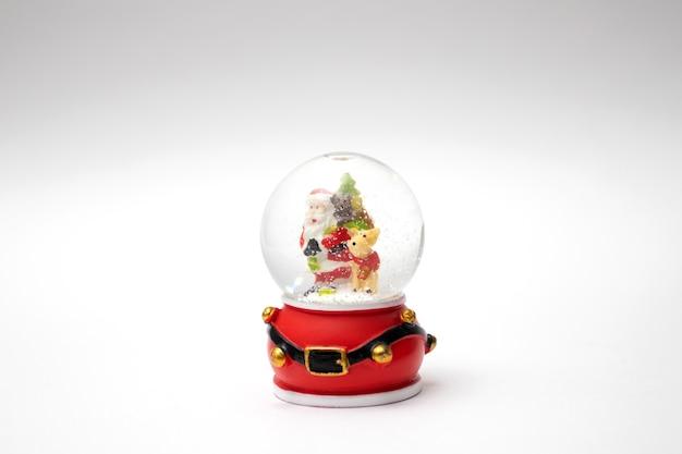 Snow globe. christmas souvenir ball with snow.