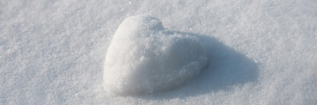 Snow heart abstract concept