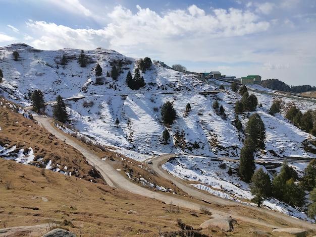 Snow mountain at dainkund dalhousie himachal india