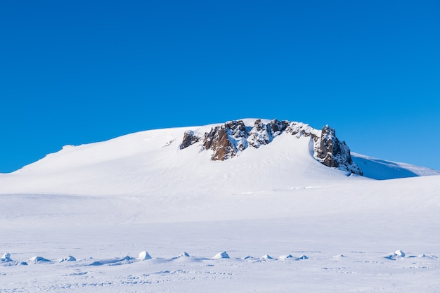 Snow mountain in iceland