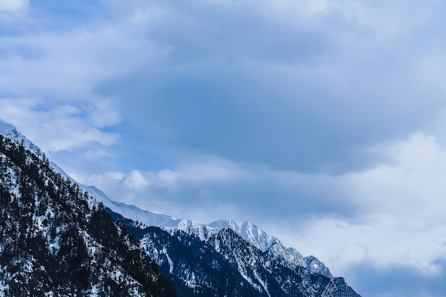 Snow mountain in kalam swat scenery landscape