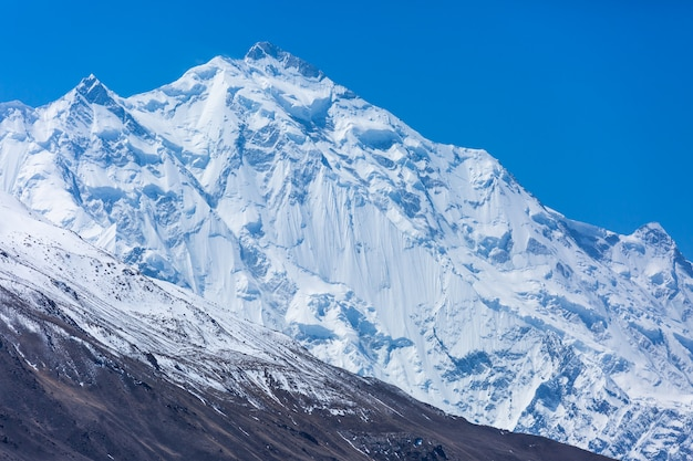 Snow mountain peak at pakistan