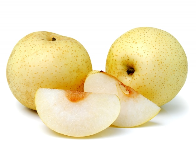 Snow pear isolated