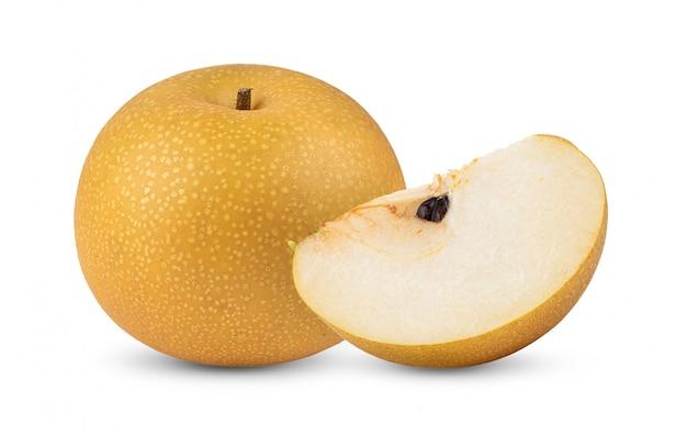 Snow pear on white