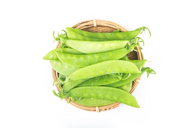 Snow peas isolated
