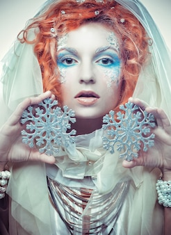 Snow queen with amazing make up