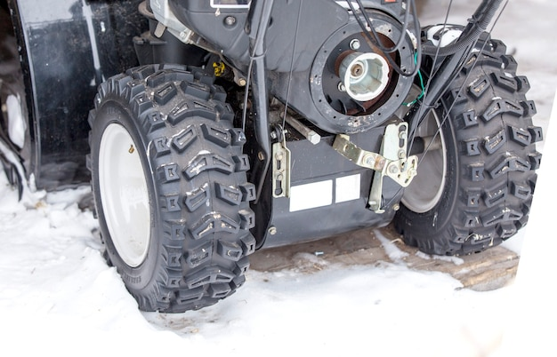 For snow removal device in winter