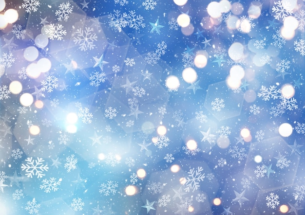 雪と雪のシーン