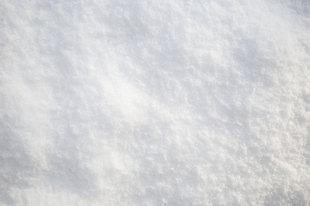 Snow texture. top view of the white snow. background with copy space. winter time