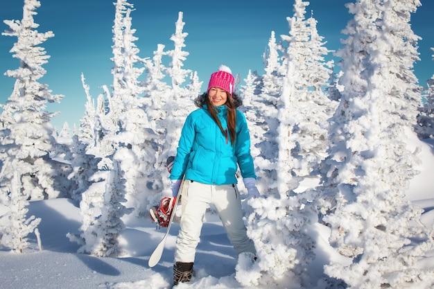 スノーボードガールウィンタースキーリゾート