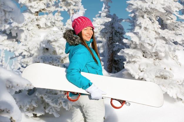 スノーボードの女の子