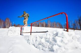 Snowboarder imbarco