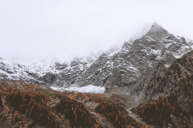 Snowcap mountain landscape