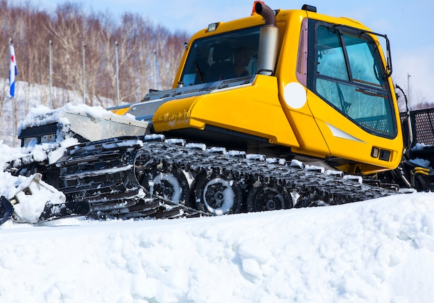 Snowcat is a transport for extreme sportsman