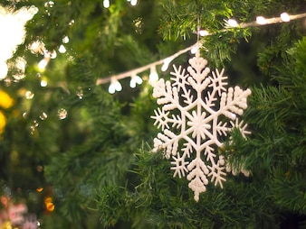 Snowflake Glitter Christmas Xmas Hanging Tree Decoration.