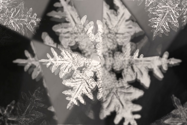 Snowflake with prism kaleidoscope effect