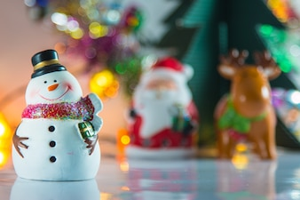 Snowman and ornament christmas item decorate for merry Christmas and happy new year