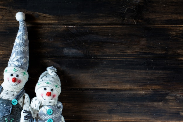 Snowman, santa. christmas background. new year.christmas composition.holiday composition.