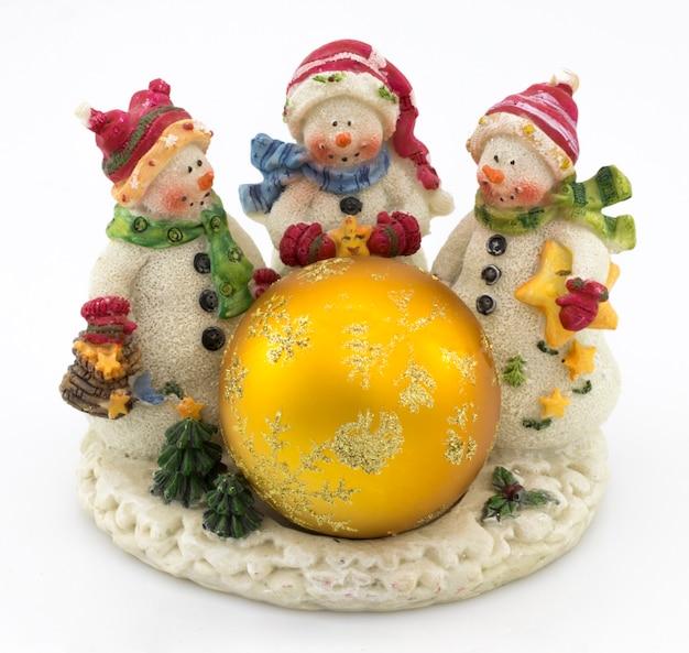 背景やポストカードの雪だるまのクリスマスの装飾