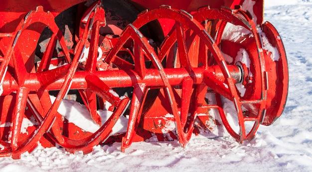Snowplow rotor in winter in kamchatka