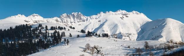 Snowy mountain in spain