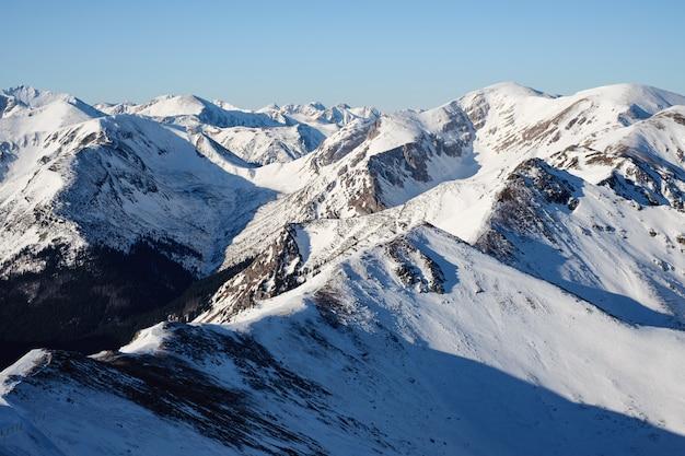 Snowy mountains tatra, kasprowy wierch in poland