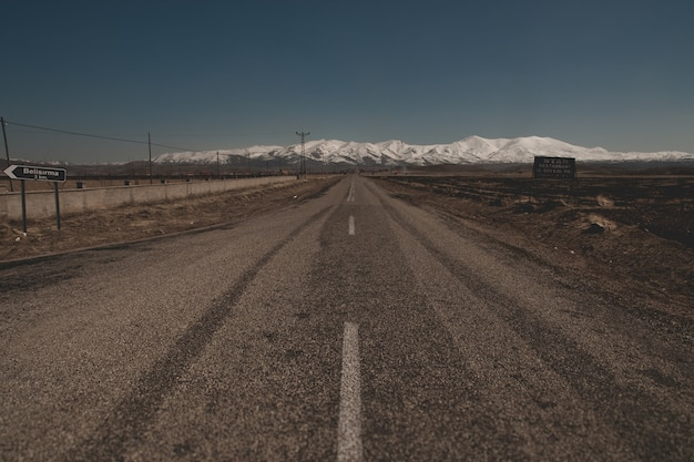 Snowy mountains in the turkish region of capaddocia, near goreme.