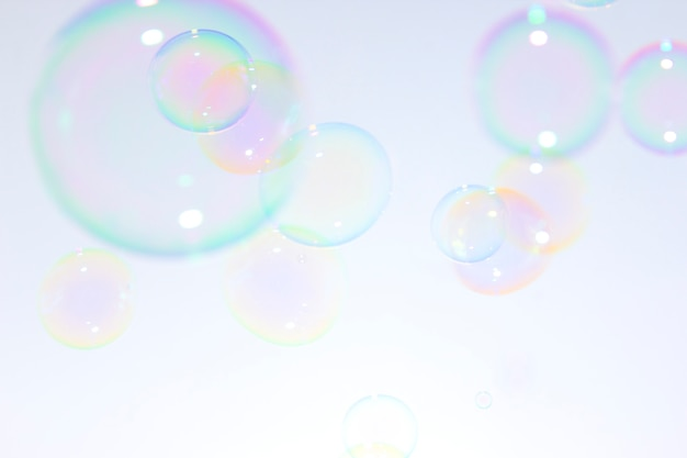 Soap bubbles background.