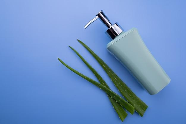 Soap dispenser and aloe vera leaves