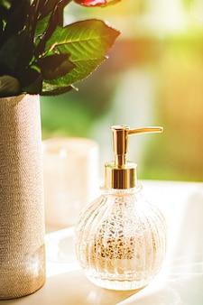 욕실 스파 홈 장식 및 인테리어 디자인 핸드 크림 또는 항균 액체 산에 비누 디스펜서 ...