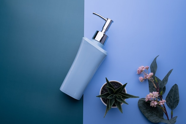 Soap dispenser and plants