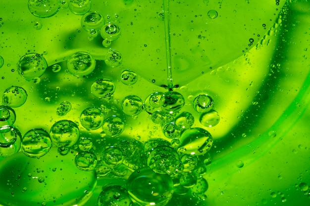 Soap drops, stains, oil, bubbles