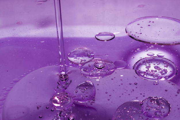Soap drops, stains, oil, bubbles