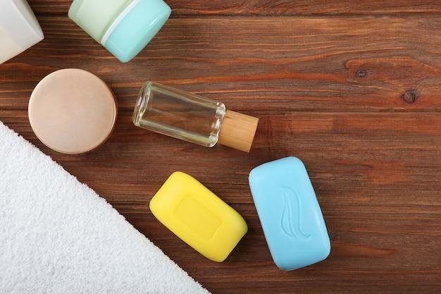 손 씻기 위생 및 손 청결을 위한 비누 프리미엄 사진