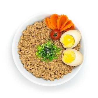 Соборо дон цыпленок рис подается вареное яйцо украсить