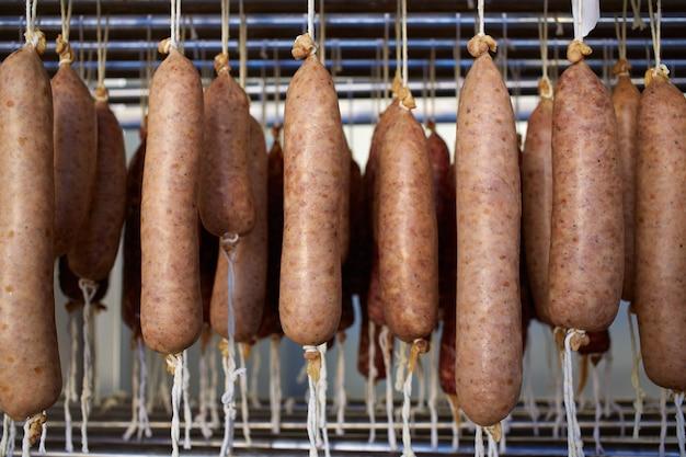Sobrasada white of mallorca sausage in balearic