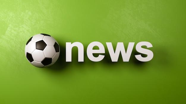 壁に対するサッカーボールとニューステキスト
