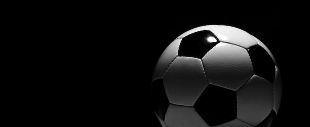 緑の遊び場のサッカーボール。サッカーのコンセプト