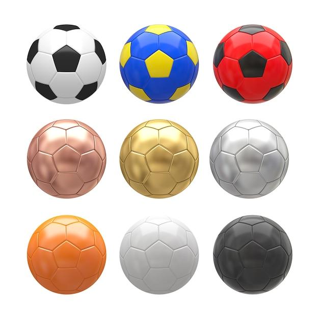Футбольный мяч на белом фоне