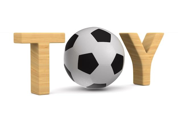 Футбольный мяч на белом пространстве. изолированные 3d иллюстрации