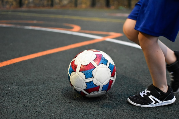 Soccer ball on the playing field