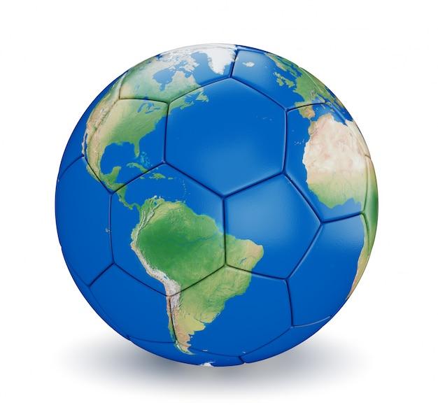 Футбольный мяч в форме земли
