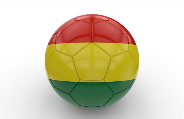 Soccer ball with bolivia flag
