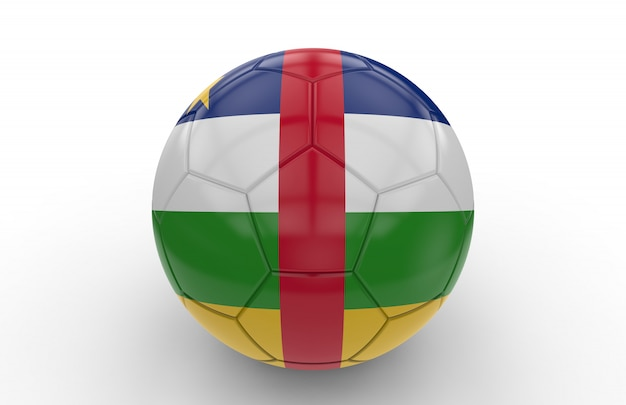 Soccer ball with central africa republic flag