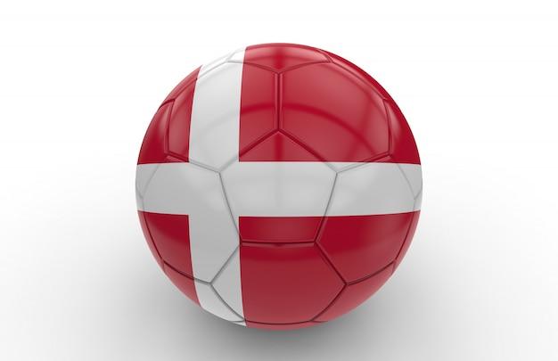 Soccer ball with denmark flag