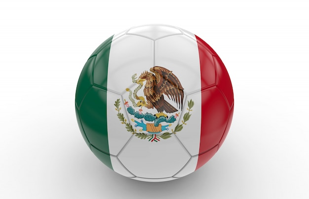 Soccer ball with mexican flag