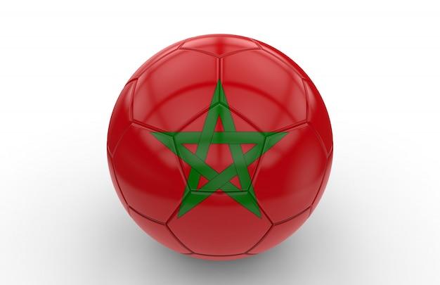 Soccer ball with morocco flag