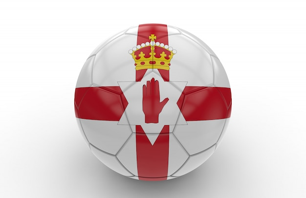 Soccer ball with northern ireland flag