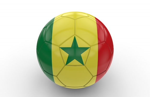 Soccer ball with senegal flag